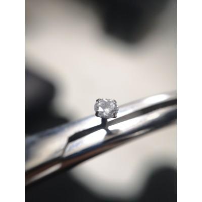 лабрет 1.2х8 безрезьбовой+накрутка кристал в 4х лапках 4мм прозрачный
