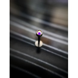 Лабрет 1.2х8 внутренняя резьба  + АВ кристалл в сборе