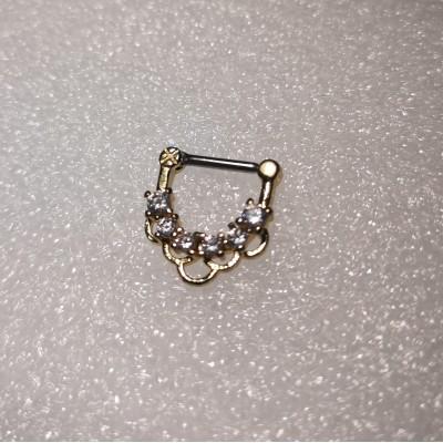Кликер анод золото 5  прозрачных кристаллов с подвесами
