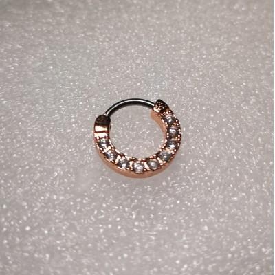 Кликер анод золото камни с прозрачными кристаллами по кругу