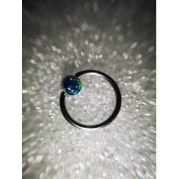 Кольцо BCR 1х11 4мм опал зеленый