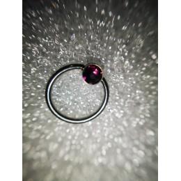 Кольцо BCR 1х11 4мм фиолетовый кристалл