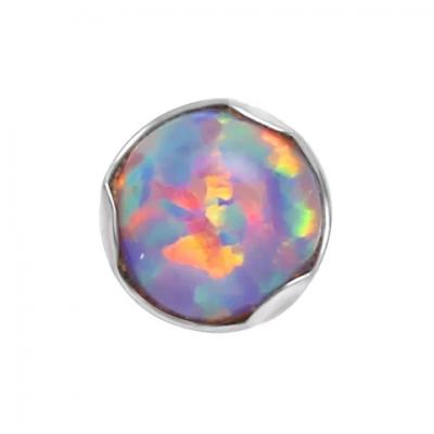 Лабрет безрезьбовой 1.2х8мм +накрутка 2мм прозрачный кристалл в лапках