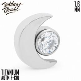Накрутка Crescent Moon crystal Implant Grade 1.6 мм титан