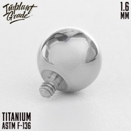 Титановый шар 1.6 4мм внешняя резьба