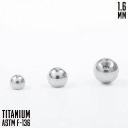 Титановый шар 1.6 5мм внутреняя резьба